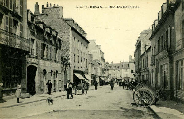 dinan rue des rouairies il y a 100 ans. Black Bedroom Furniture Sets. Home Design Ideas